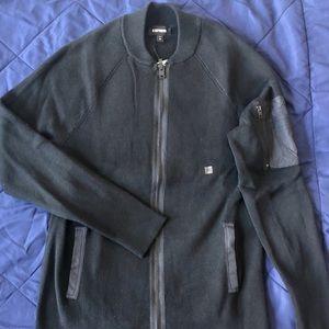 Zip Front Bomber Sweater